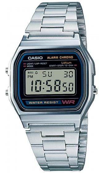 Relógio Casio A-158wa-1df Unissex Quadrado - Refinado