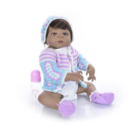 Bebê Reborne Corpo Todo De Vinil Siliconado Morena Negra M1