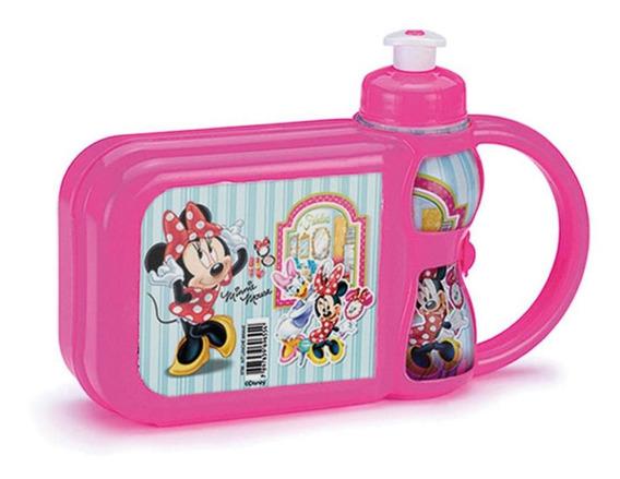Kit Lancheira E Garrafinha Escolar Disney Minnie Mouse