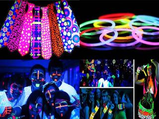 Kit Hora Loca Led Neon Glow Fiestas 15 Años Bodas + Obsequio
