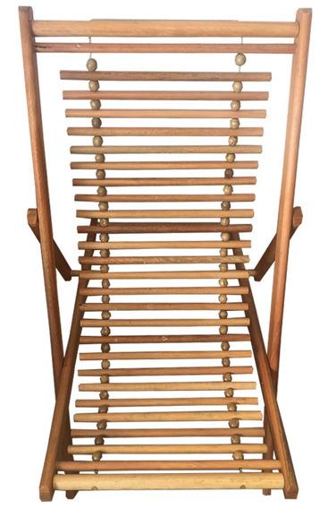 Cadeira Preguicosa Em Madeira Regulavel 3 Posiçoes Envio Ja