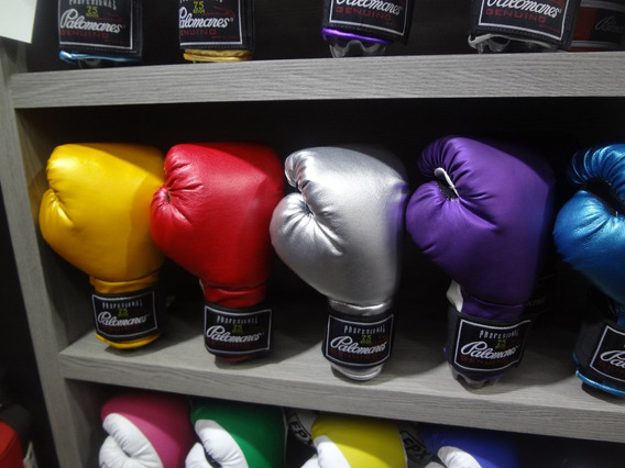 Par Guantes De Box Brilloso 8 Colores Palomares Genuino Fpx