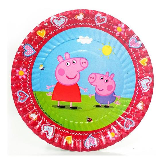 Set Kit Cumpleaños Peppa Pig 20n Lic. Oficial + Adorno Torta