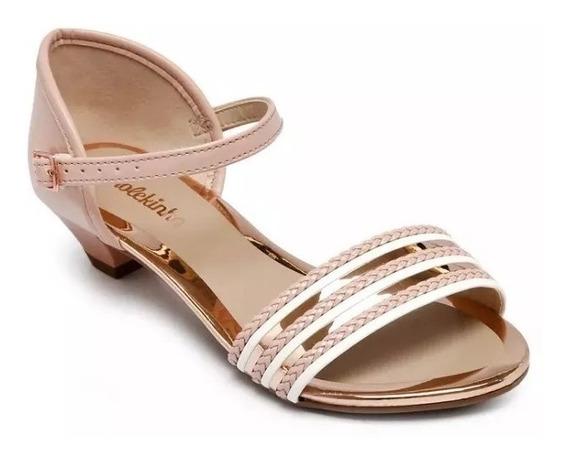 Sandalia Molekinha Sapato Com Salto Infantil Menina Ccv