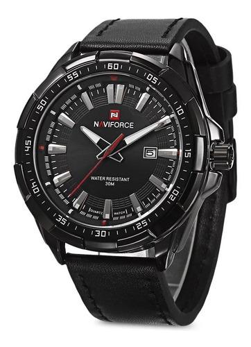 Relógio Masculino Naviforce 9056 Analógico Original Preto