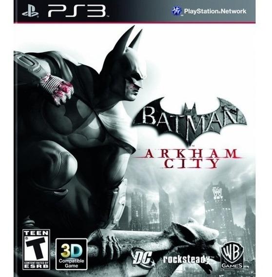Game Play3 - Batman Arkham City - Semi-novo Jogo Ps3