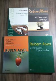 Kit Com 4 Livros Do Autor Rubem Alves