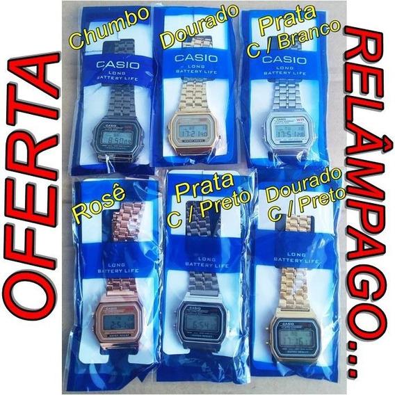 Kit Com 10 Relógios Digital Casio Aço Vintage Unissex Atacado / Oferta Relâmpago!!!