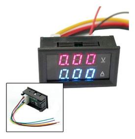 Amperimetro 10a Voltimetro 0 100v Dual Display Led Favix Dc