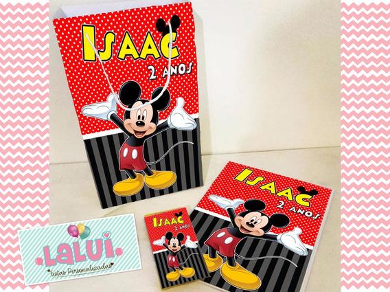 20 Kit Colorir Mickey Sacola Revista Personalizados