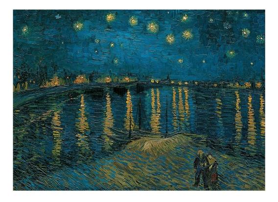 Noche Estrellada Rodano Van Gogh 1kp Rompecabezas Clementoni