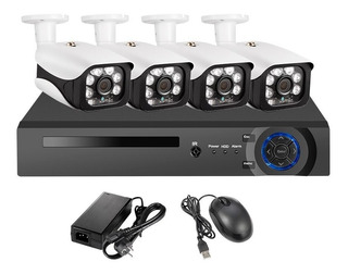 4k 8mp Cámara Poe Sistema De Seguridad Nvr Kit 8ch 5mp