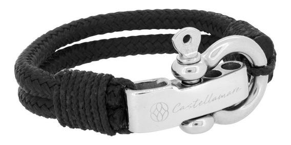 Pulsera Cuerda Negra Acero Inoxidable Castellamare 115201001