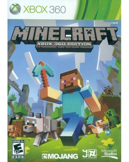 Minecraft Xbox 360 Mídia Física Lacrado 100% Em Português