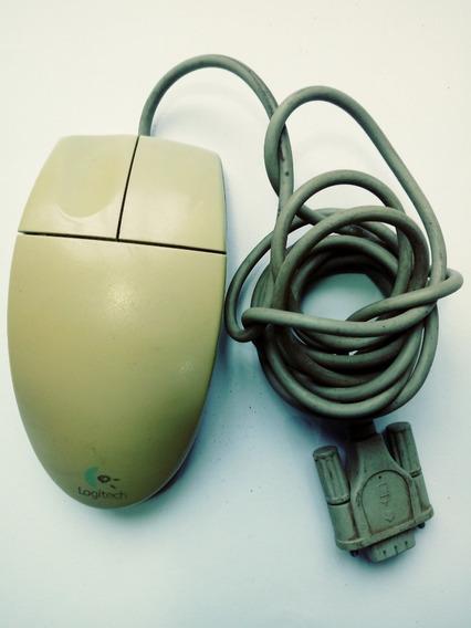 Mouse Serial, Antigo Com Bolinha, Amarelado
