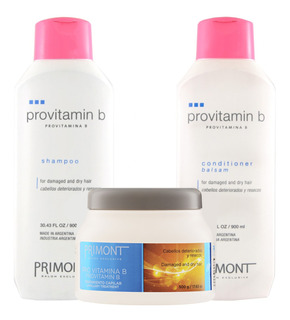 Pack Profesional Primont: Shampoo+acondicionador+tratamiento