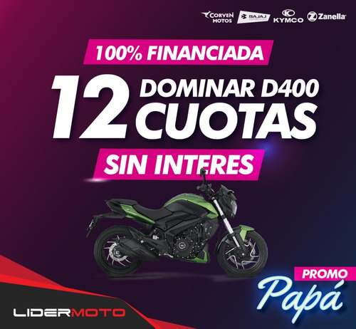 Bajaj Dominar 400 Ug  Lidermoto Nuevo Color!!