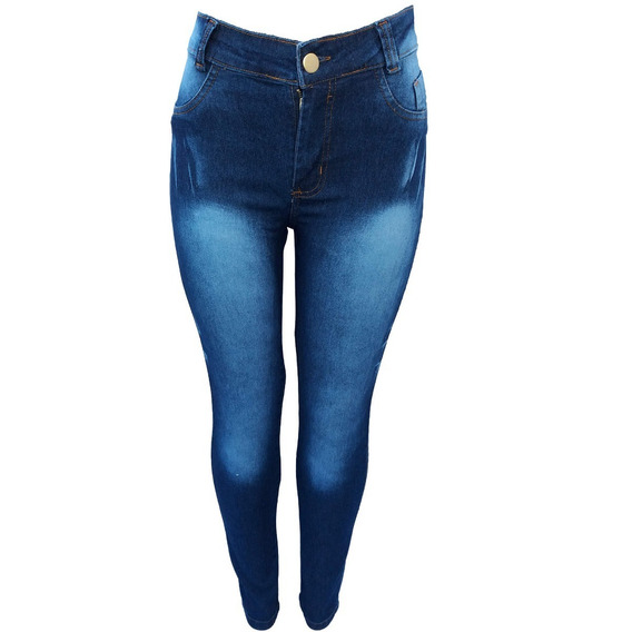 Kit 6 Calça Jeans Feminina Cintura Alta Com 3% Lycra Até 54