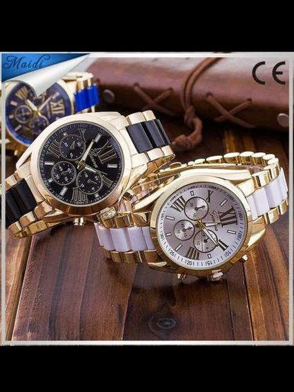 Relógio Quartzo Senhoras Cristais De Marca De Luxo
