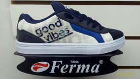 Tenis Ferma Skate Mod. B8705 Branco/marinho