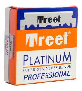 Treet Platinum Hojas Afeitar Para Navaja Barbería X100 Local