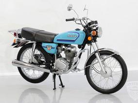 Honda Cg 125 1982 82 - Original - Antiga - Moto - Azul