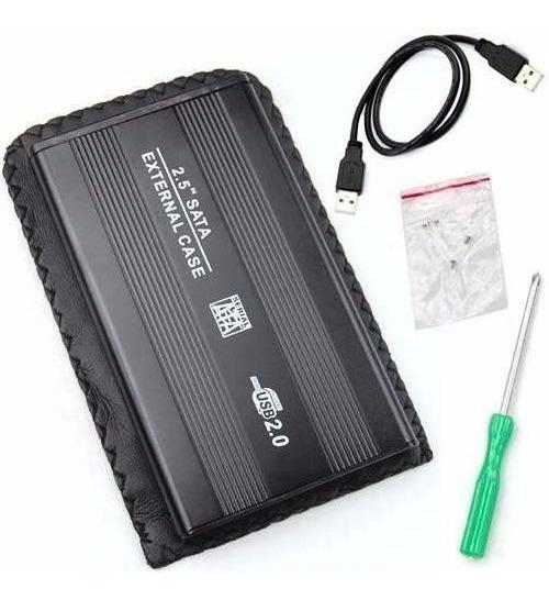 Case Para Hd 2.5 Notebook Aluminio Sata Para Usb 2.0 Exbom