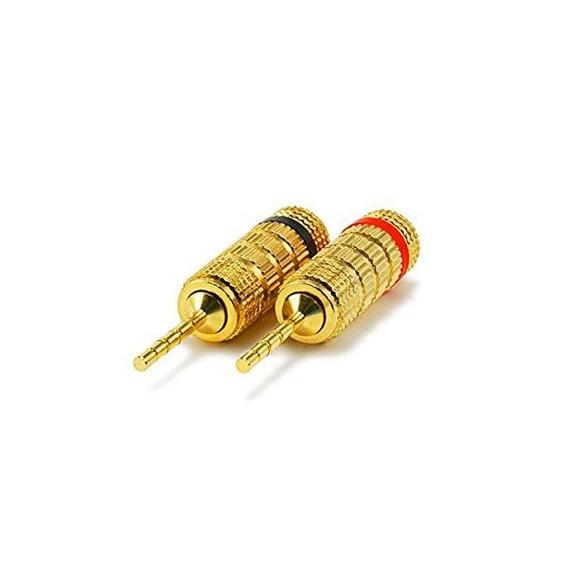 Monoprice 24k Altavoz Chapado En Oro Enchufes Pin, Cerrado T
