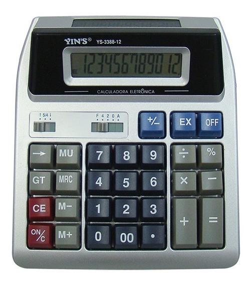 Calculadora De Mesa 12 Dígitos Digital Yins