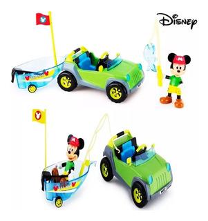 Mickey 4x4 + Barco Vehículo Bote Figura Accesorios Disney