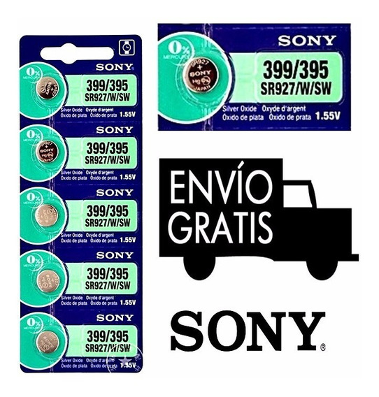 5 Pila Sr927sw 395 399 Oxido De Plata1.55v Sony Originales