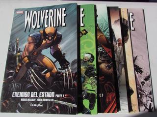 Comic Marvel: Wolverine - Enemigo Del Estado. 6 Tomos, Completa. Editorial Unlimited