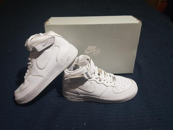 Zapatillas Nike Air Force 1 Mid Blancas Originales