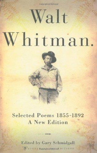 Book Walt Whitman Selected Poems 1855 1892 Walt Whitman