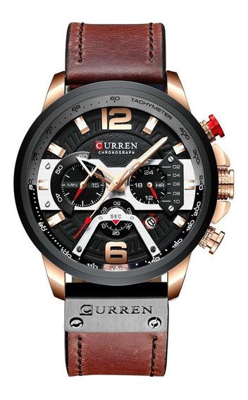 Relógio Curren 8355 Castanho A Prova D