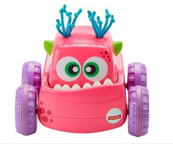 Brinquedo Caminhão Monstrinho Fisher Price Aperte E Vá Rosa