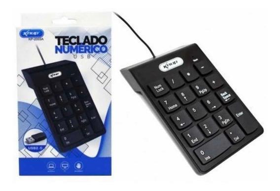 Teclado Numérico Usb 2.0 P/ Notebook 18 Teclas Knup Kp-2003a