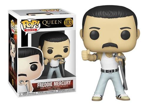 Imagen 1 de 1 de Figura Funko Pop, Freddie Mercury Radio Gaga 1985 - 183