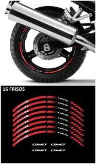 Kit Adesivos Friso Roda Moto Kasinski Comet Gt 250r Ccr13293