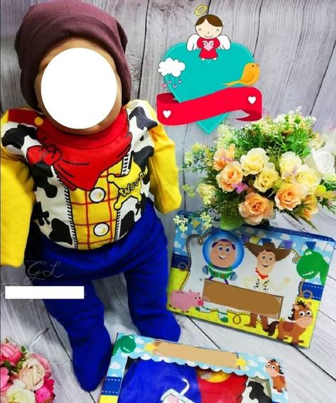 Conjunto Disfraz Toy Story Woody Buzz 3p Body Pantalon Gorro