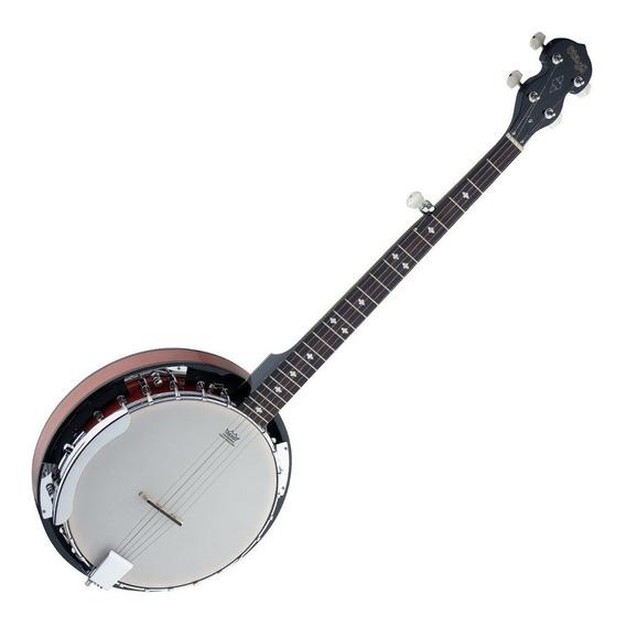 Banjo 5 Cuerdas 24 Hooks Wood Pot Stagg Bjw24 Dl