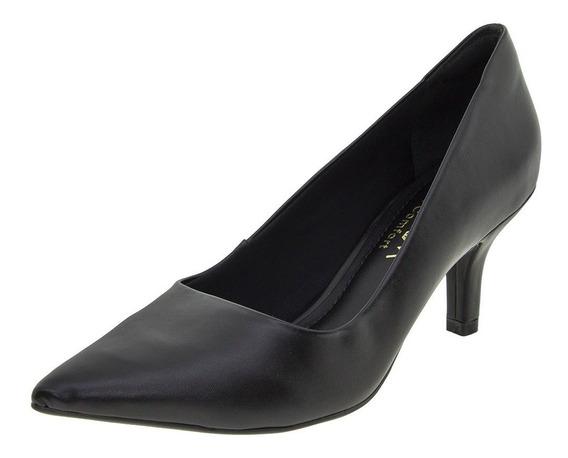 Sapato Feminino Salto Médio Preto Ramarin - 62104
