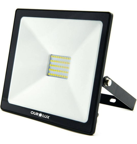 Refletor Superled Projetor Slim 100w 6500k Branco - Ourolux