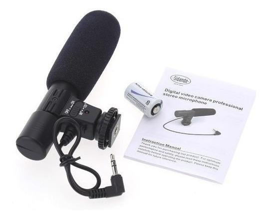 Microfone Shotgun Dslr Direcional Camera Canon Nikon Rode