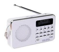 Rádio Receptor Luvin T-205 Fm Suporte Cartão Tf Mp3 Mp4 Mp5