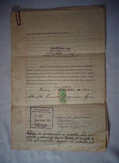 Carta Nomeação Fiscal Usina Hidroelétrica Ilhéus Bahia 1916