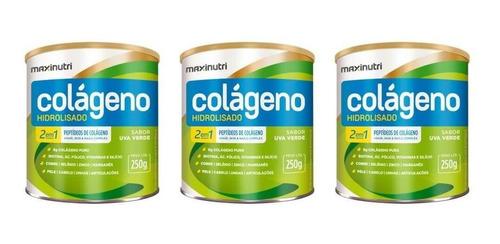 Imagem 1 de 1 de Maxinutri Colágeno Hidr 2em7 Uva Verde 250g (kit C/03)