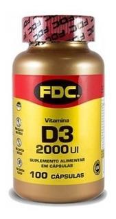 Vitamina D3 2.000ui Fdc 100 Cápsulas