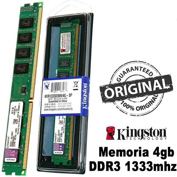 M Kingston Ddr3- 4gb1333mhz Pc(kvr1333 D3n9/4g - 240pin Dim