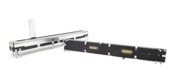 2 Unids Potenciômetro Deslizante Stereo B10k B103 75mmx60mm